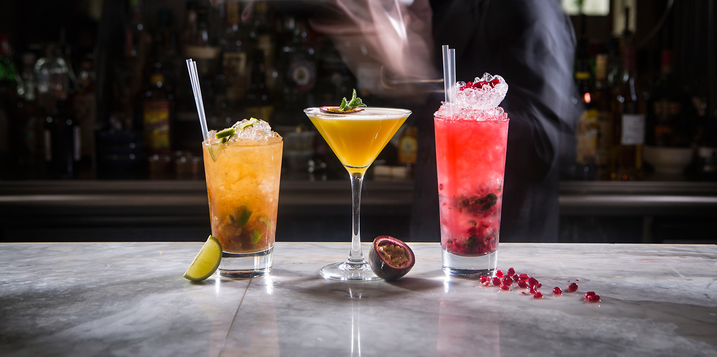 Cocktails available at Zaika restaurant