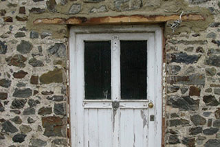 The front door before renovation