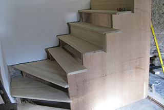 New stairs under construction