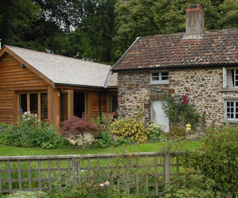 Photo of cottage extension in Brushford, Somerset