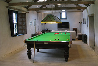 Internal view of the residential areas after the barn restoration