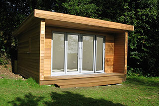 External view of the finished summerhouse