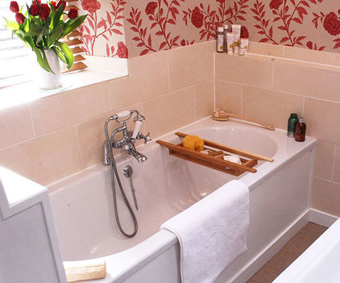 Photo of renovated bathroom after a cottage restoration project in Brushford