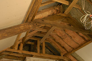 Complete restoration of the roof including bedroom ceiling
