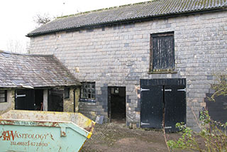 The exterior before the barn restoration