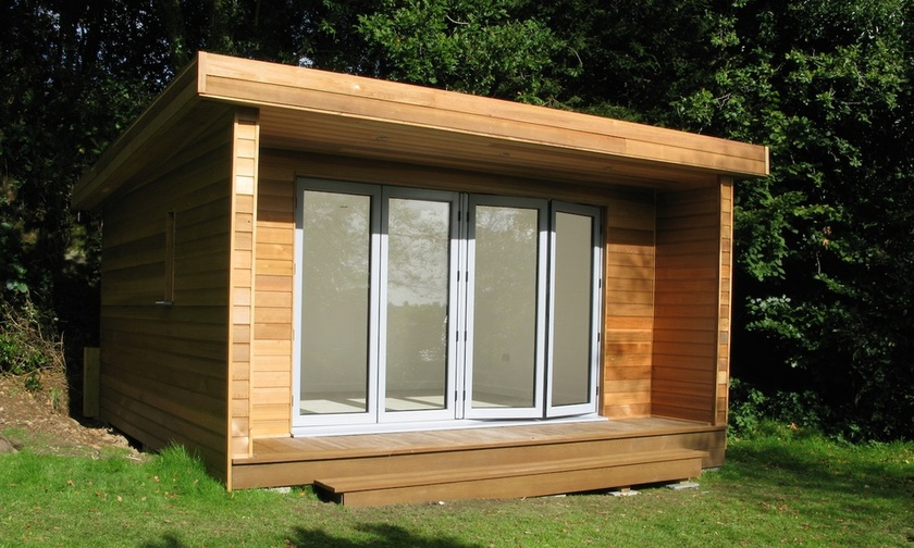 A custom-made summerhouse designed and built by Exmoor Builders