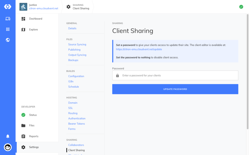 Client Sharing