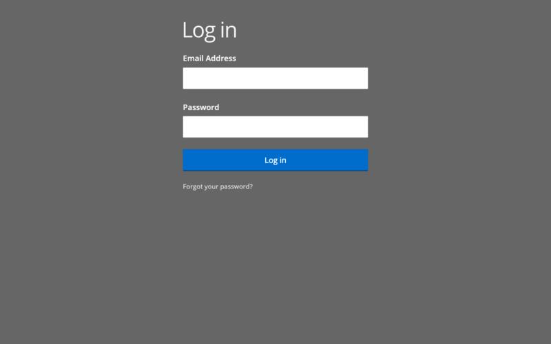 User account login