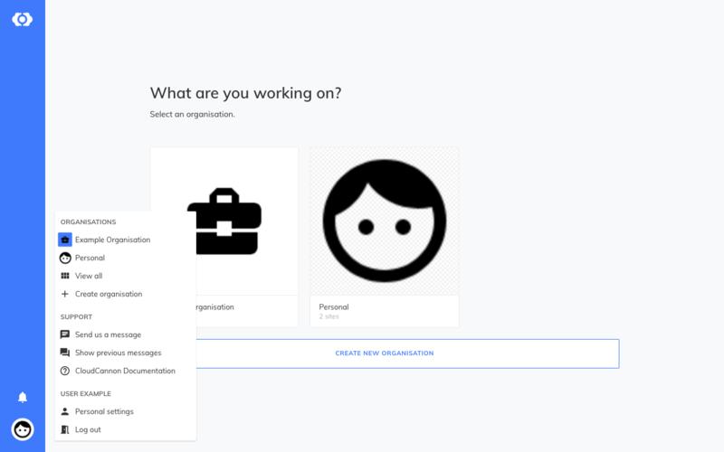 Organisation List Interface