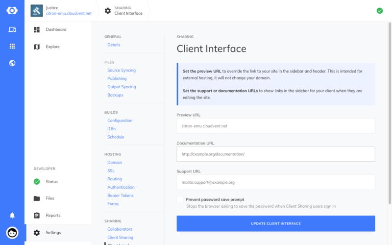 Client Interface