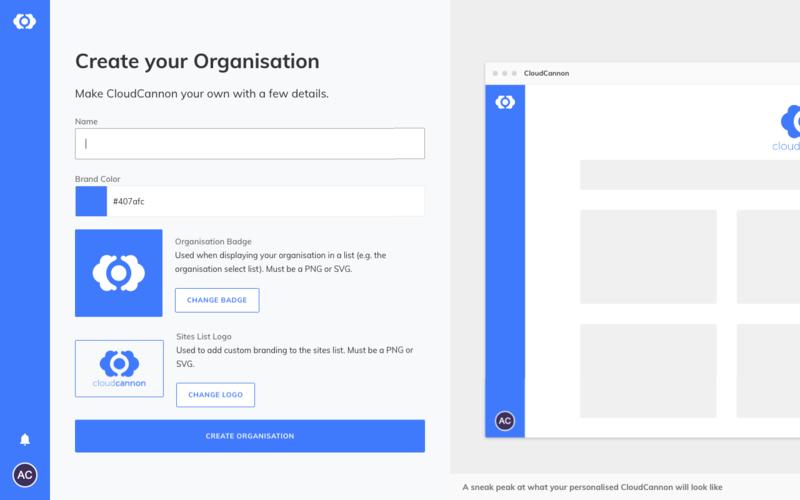 Adding an Organisation Interface