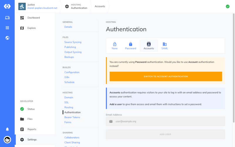 User account authentication