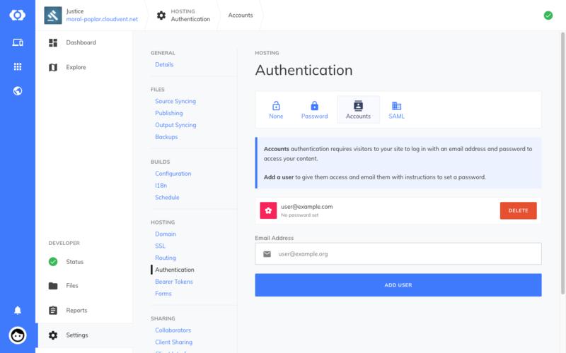 Adding a user account