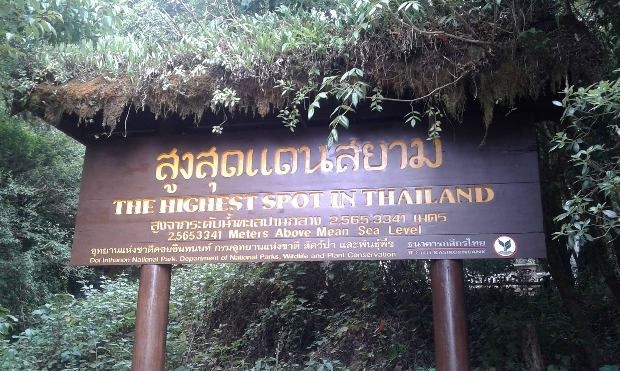 highest point of thailand doi inthanon