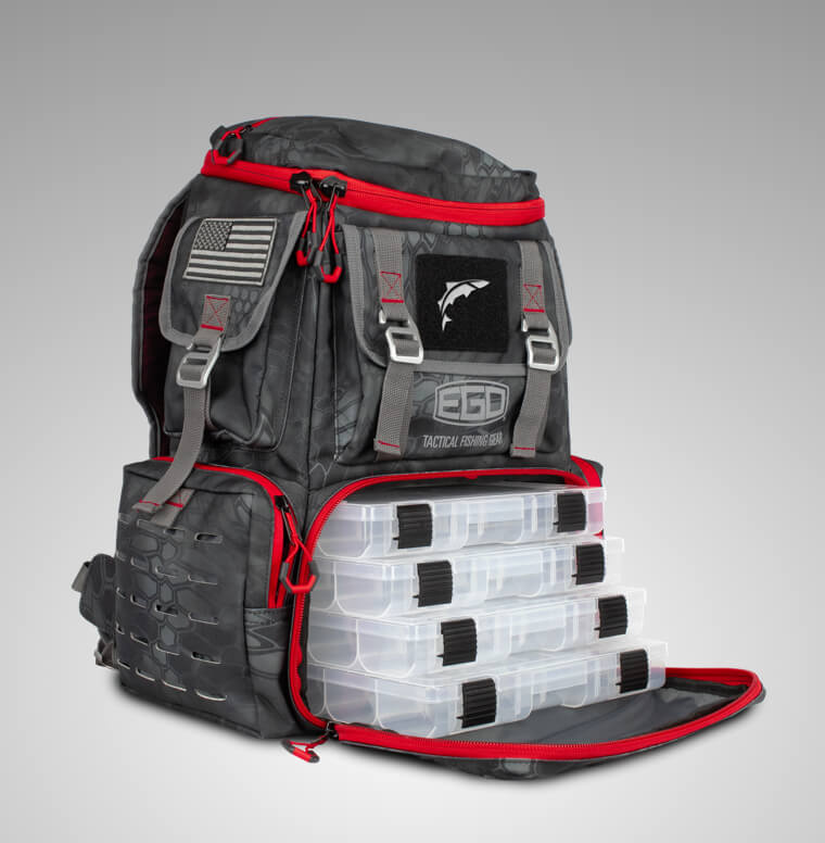 ego tackle box backpack open