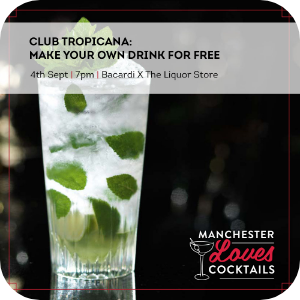 Club Tropicana make your own drink for free