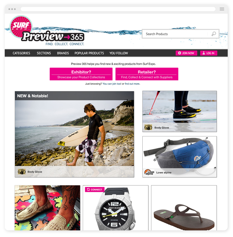 Surf Expo 365 Homepage