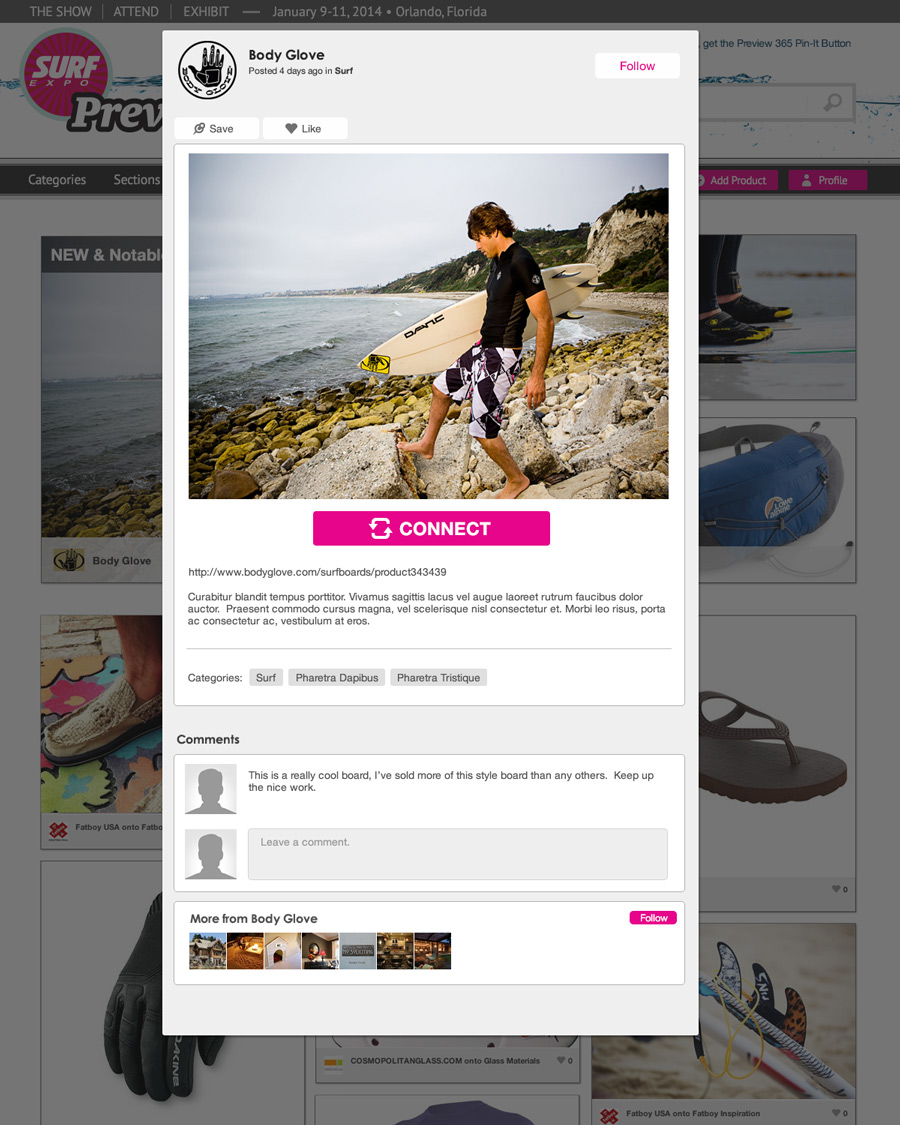 Surf Expo 365 Product Page
