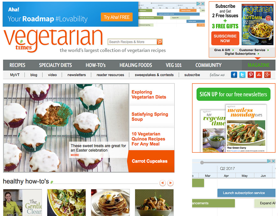 Vegetarian Times - Prior to Redesign