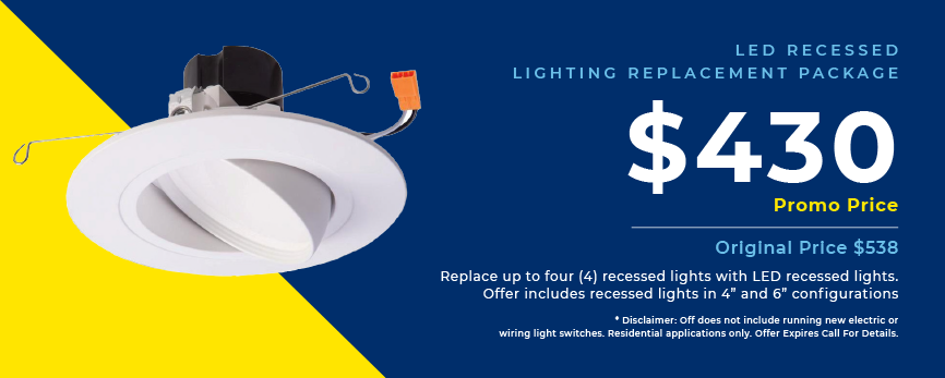 LED rtecessed lighting, 430 dollar promotion