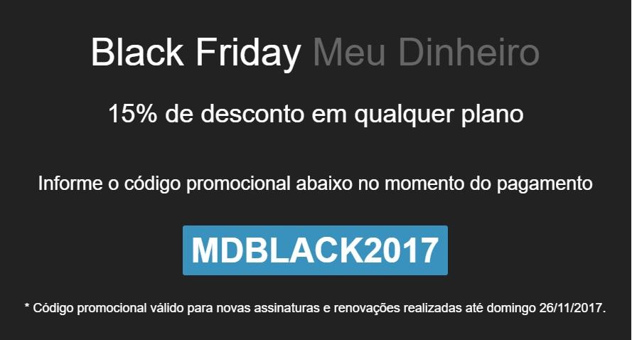 Black Friday Meu Dinheiro 2017 - Gerenciador Financeiro