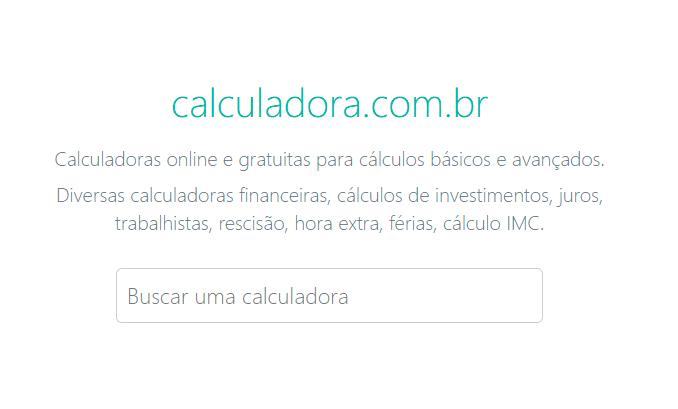 Calculadoras financeiras online para os usuários Meu Dinheiro