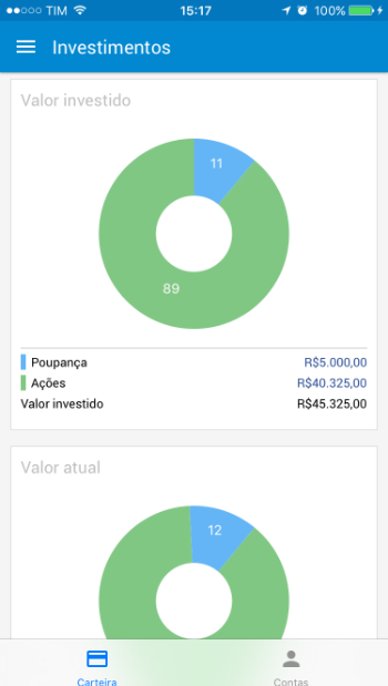 investimentos IOS
