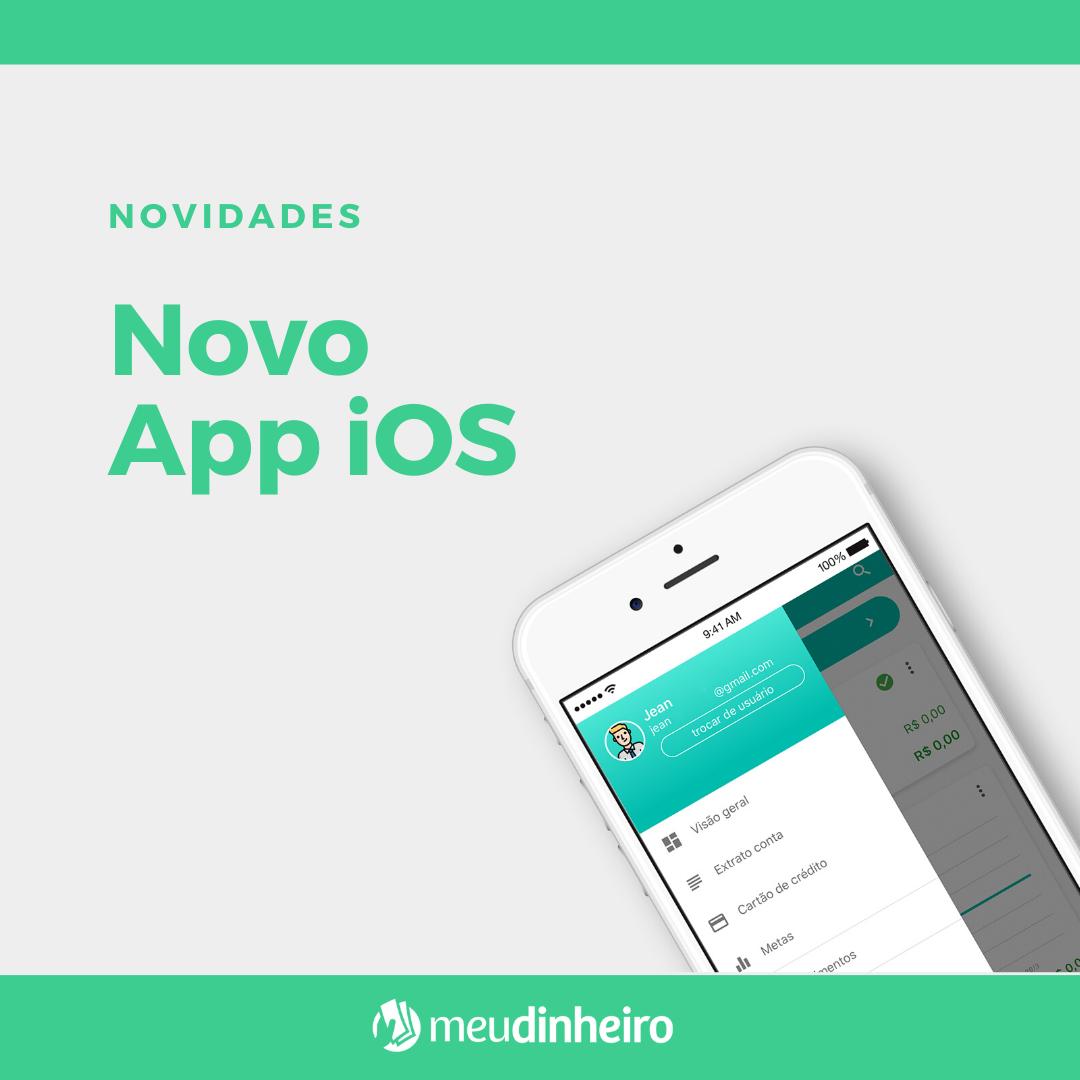 Lançamento do app Controle Financeiro iOS na loja (App Store)