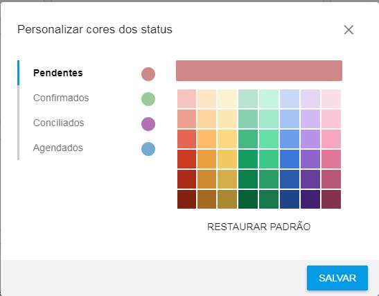 Personalizar cores dos status