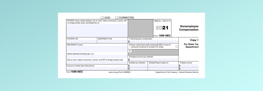 NEW Form 1099-NEC Nonemployee Compensation image