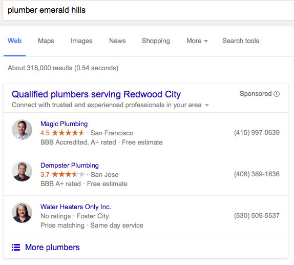 Google's beta test of Home Services Ads