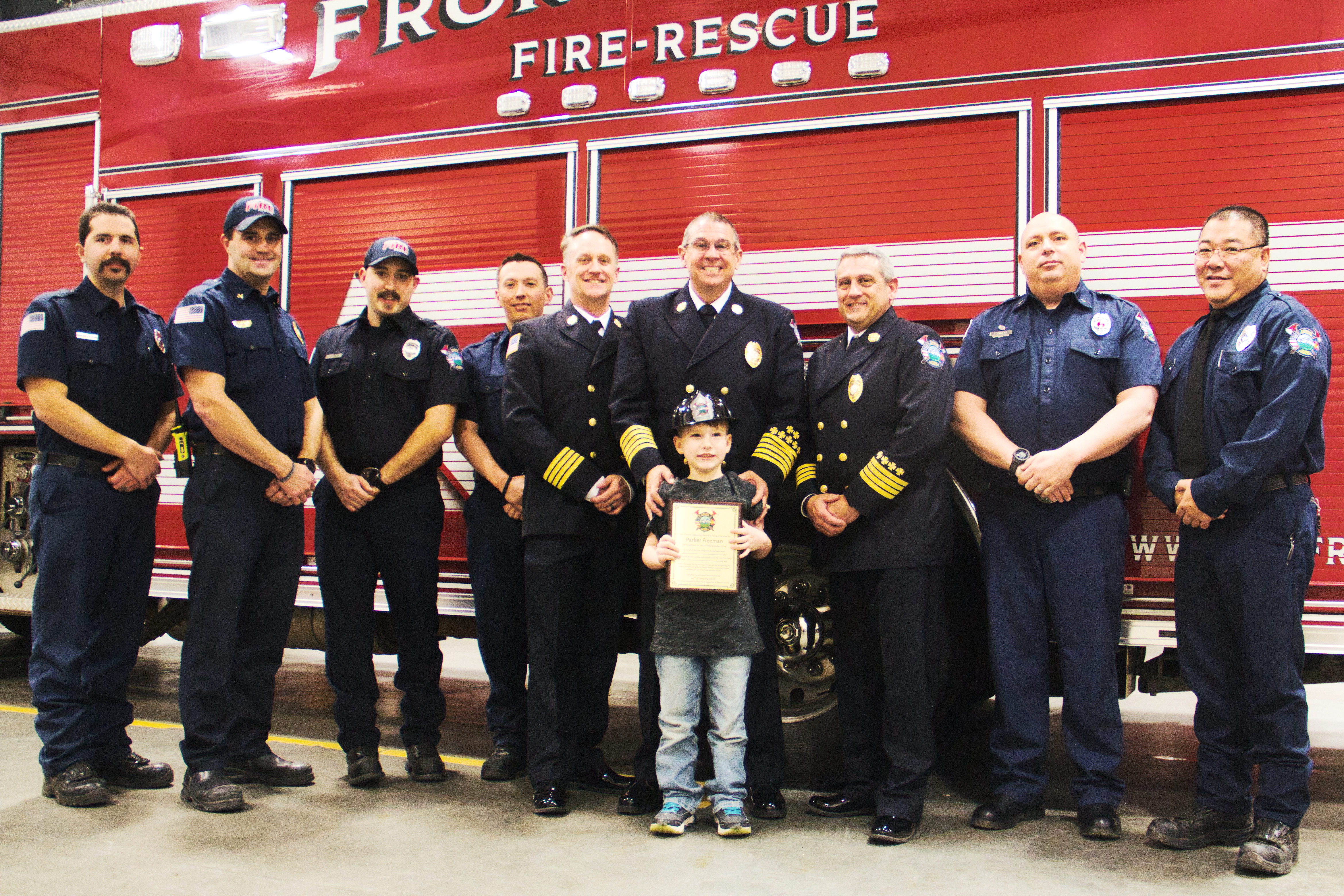 6-year old Parker Freeman receives LIFESAVING Award