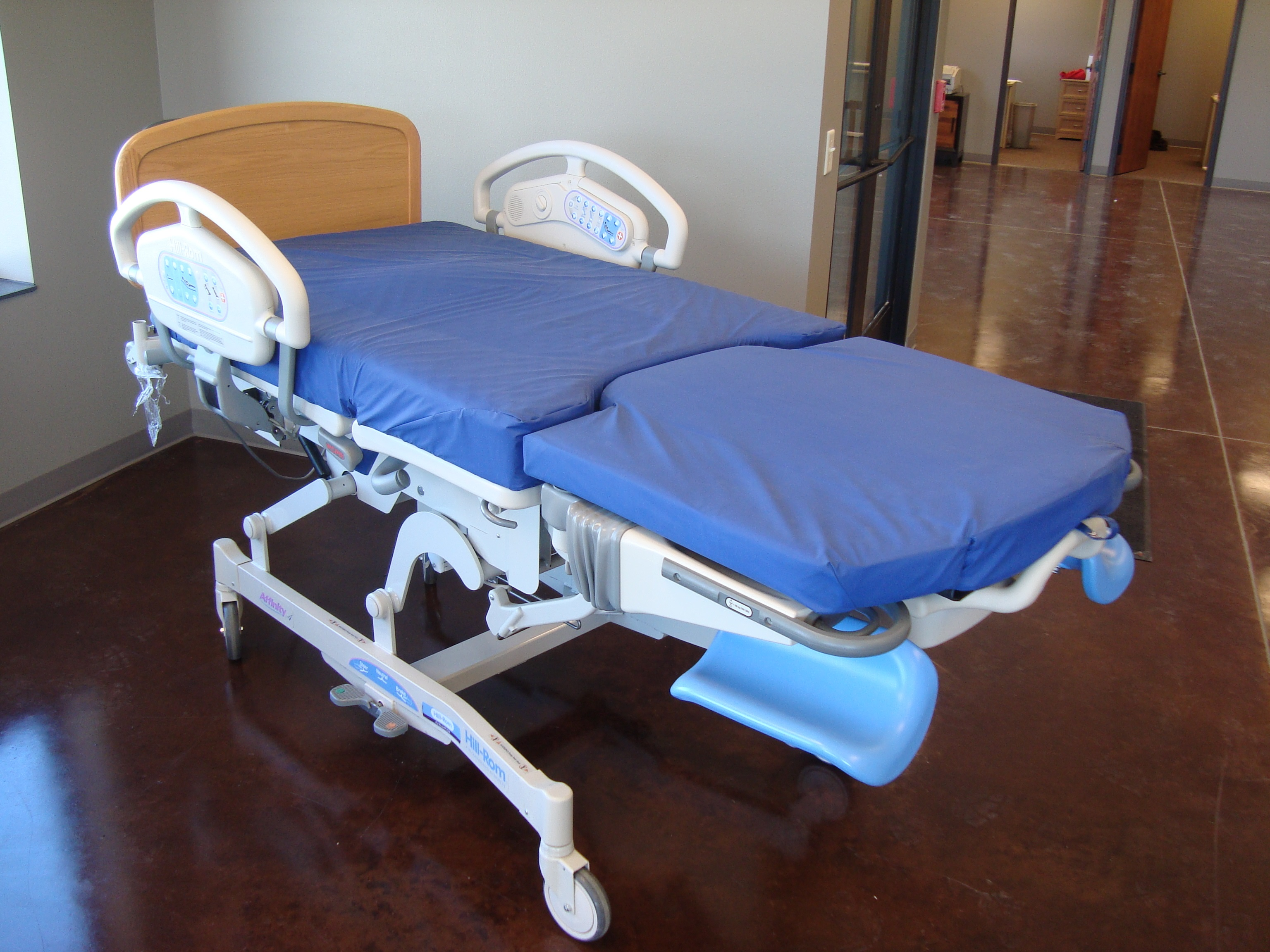 Image of a Hill Rom Affinity 4 Birthing Bed