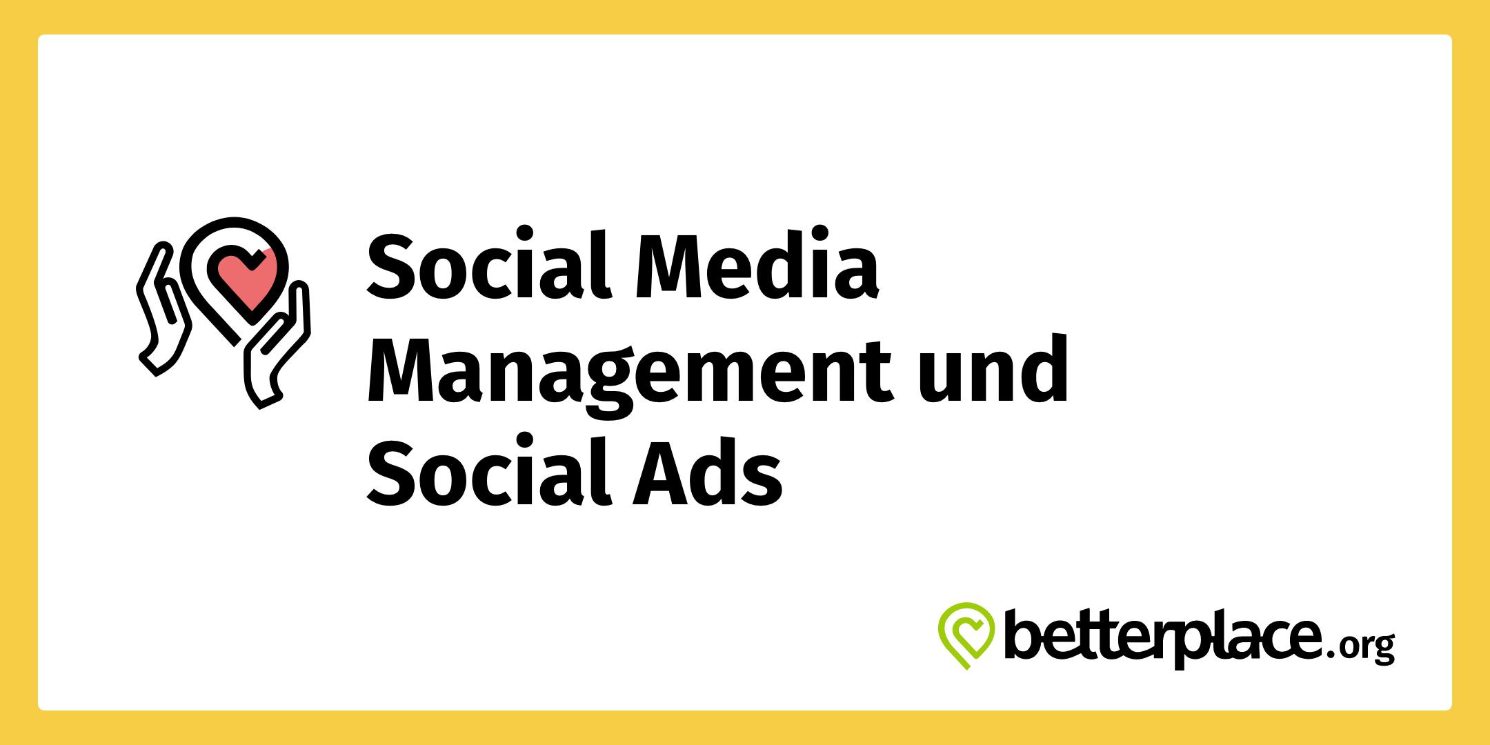 betterplace.org Webinar Social Media Management und Social Ads