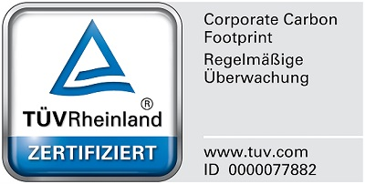 TÜV Rheinland Corporate Carbon Footprint Zertifikat