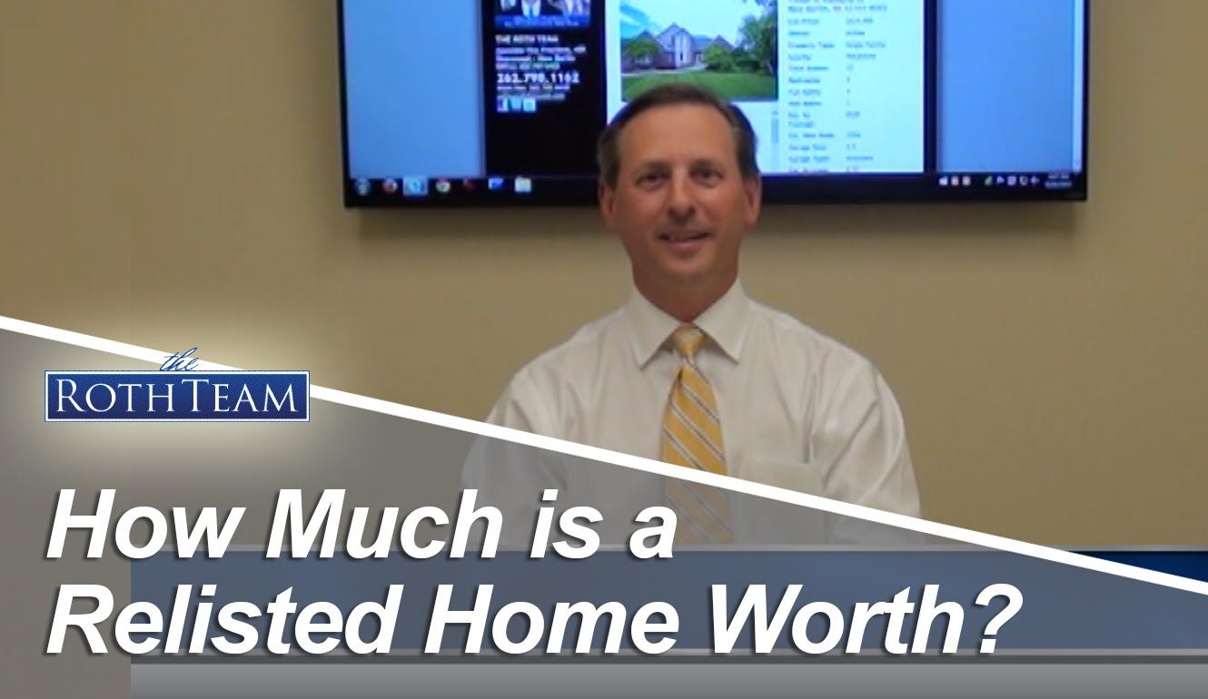 How Much is a relisted Home Worth?