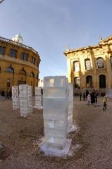 Ice Columns by Peter Clegg and Antony Gormley