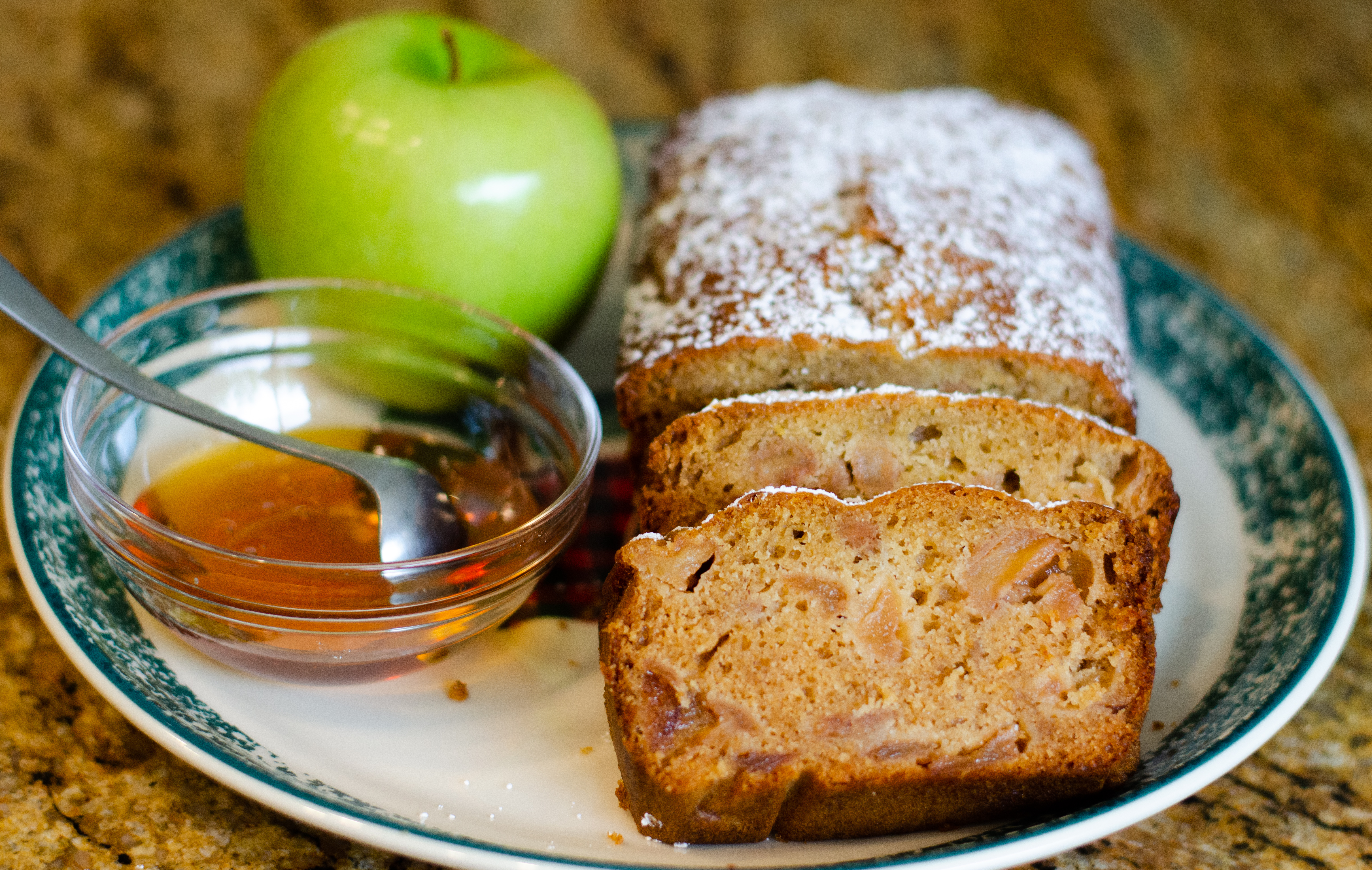 Honey Apple Olive Oil Loaf Cake