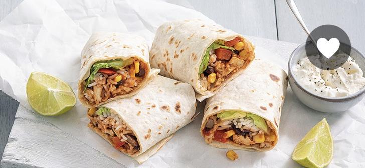 Mexicaanse burito's, twee stuks dus!
