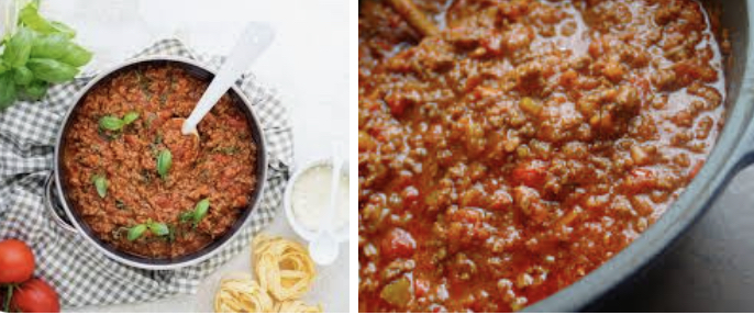 Spaghetti Bolognese saus voor VIER personen.