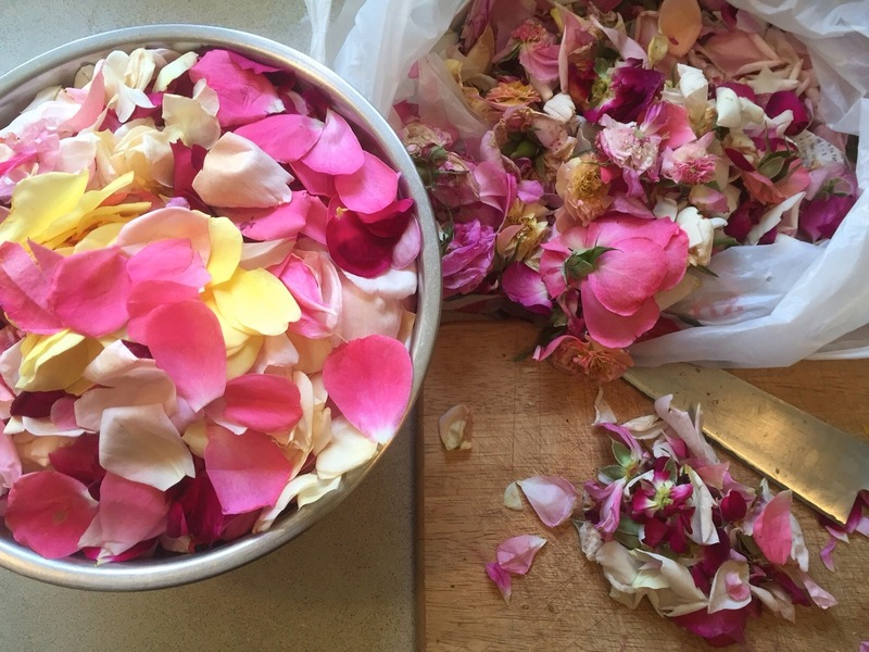 Baking with Rose petals