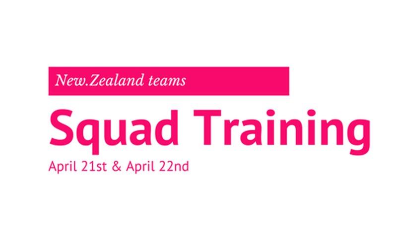 NZ Teams training Time for April 21st & April 22nd
