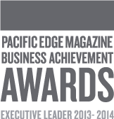 Pacific Edge Magazine Business Achievement Awards Executive Leader 2013-2014