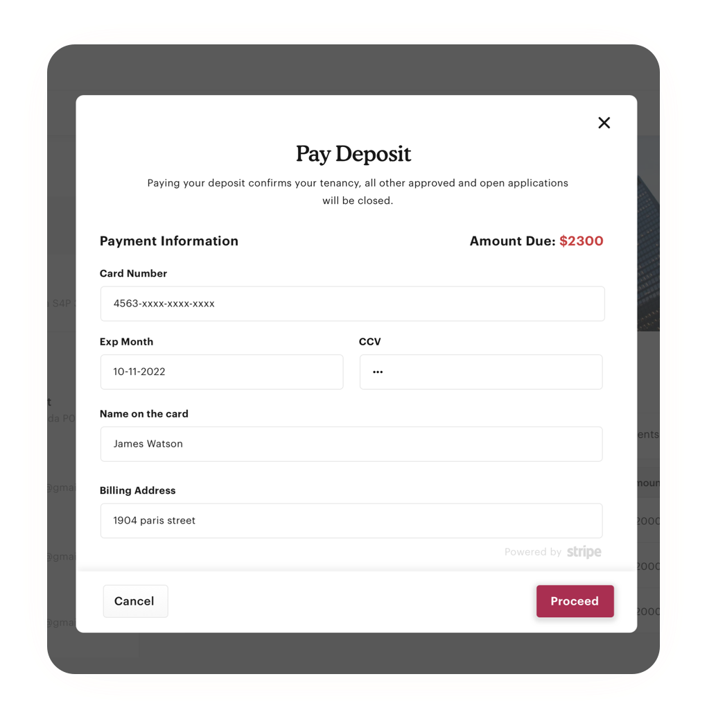 Provide a convenient way for tenants to pay rent, deposits or make any transaction.