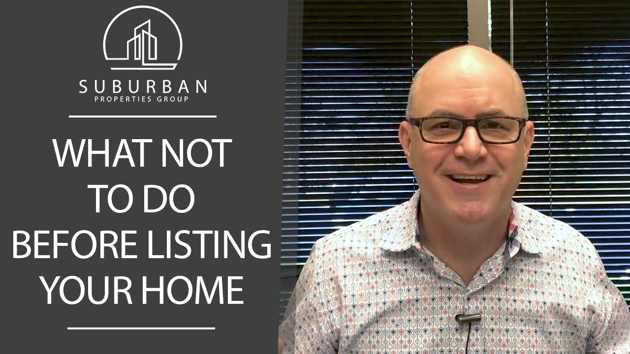 Avoid Doing These 3 Things Before You List