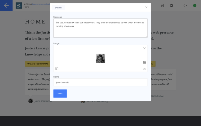 Example modal front matter Editor Link