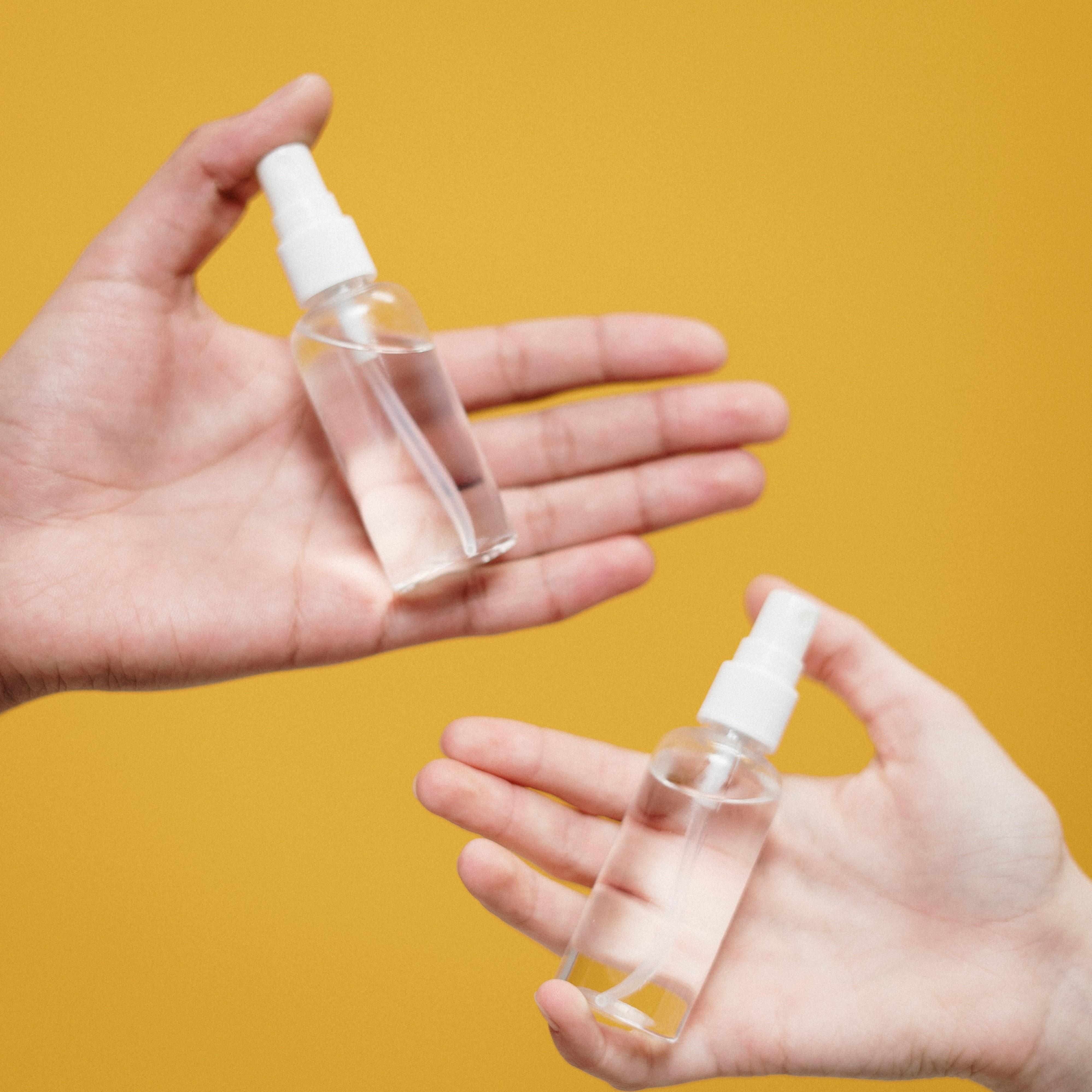 Hands Holding Liquids.