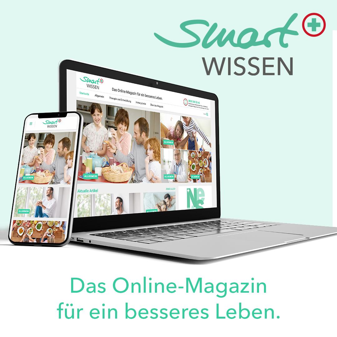 smart WISSEN Online Magazin on Smartphone and Laptop
