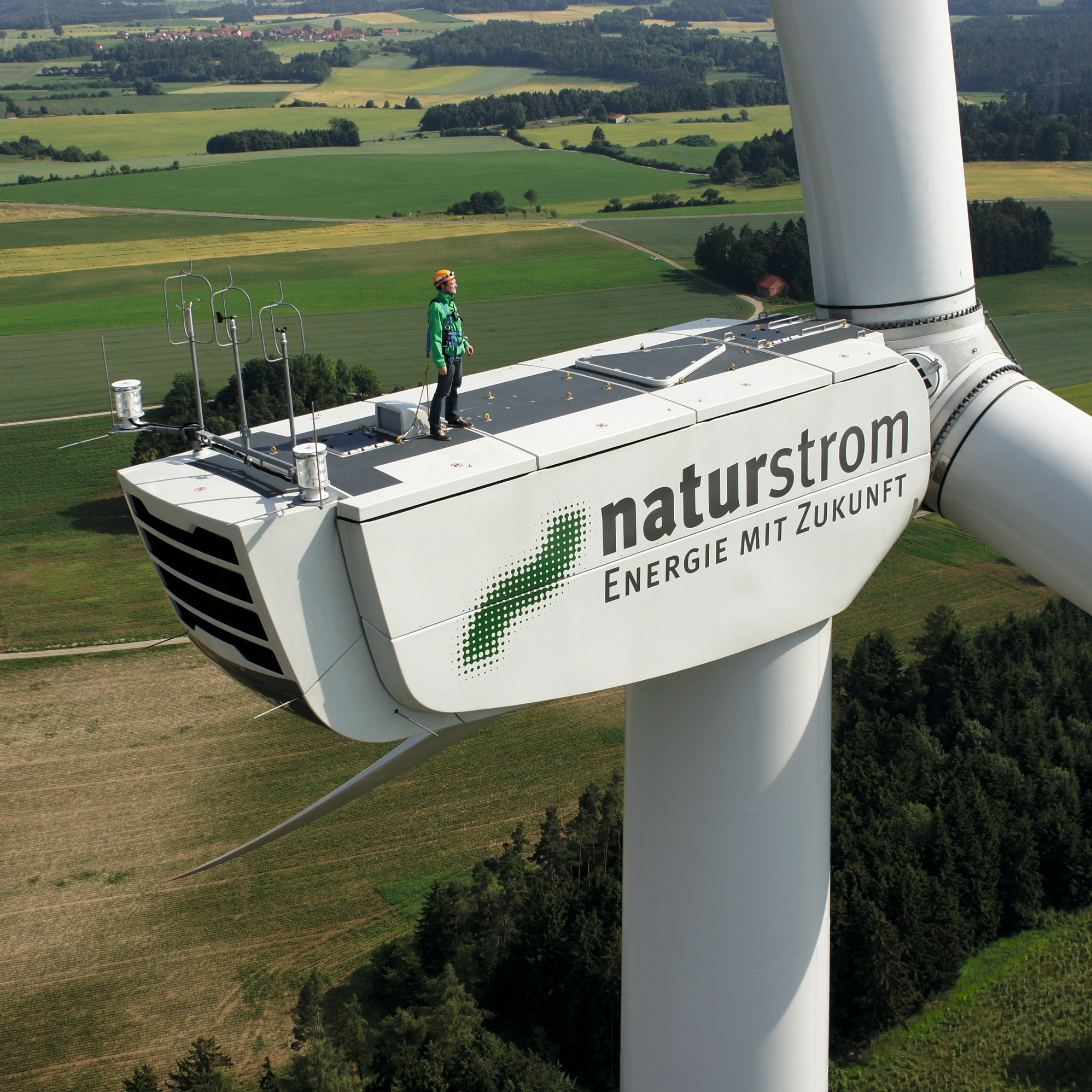 Naturstrom Windmill under Construction.