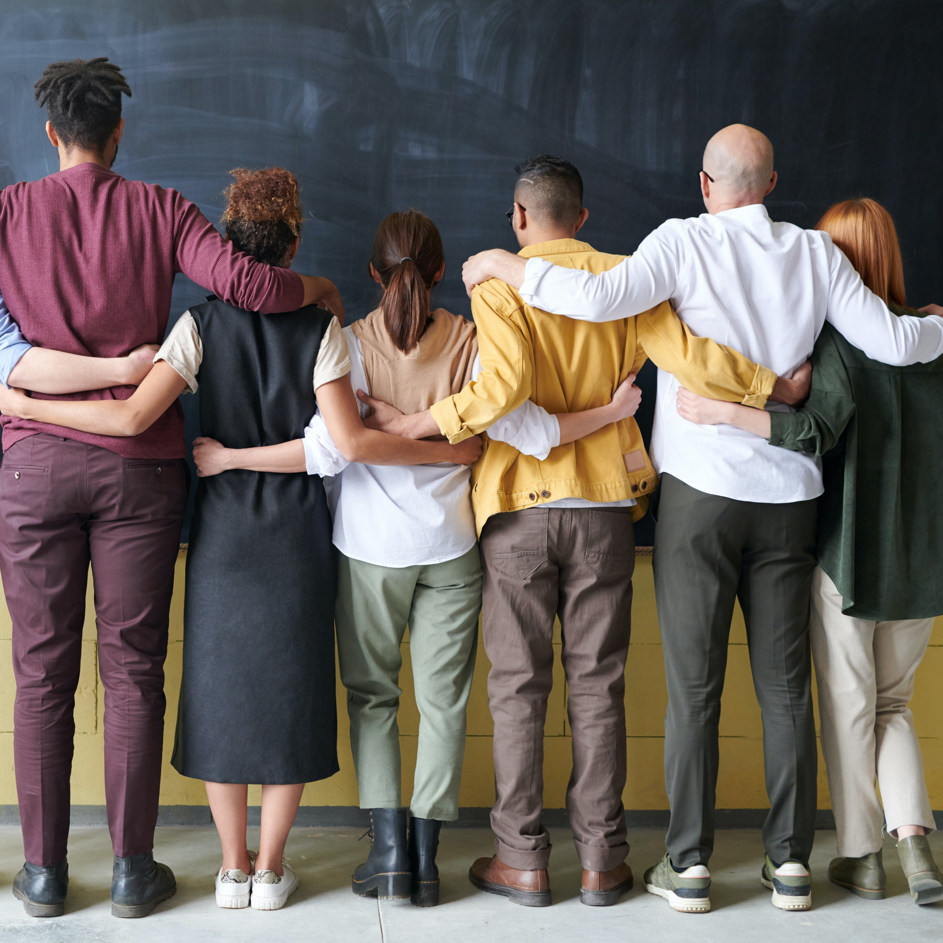 Diverse People Standing Together